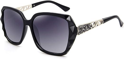 LECKIRUT Mujer Sombras Grande clásico Polarizadas Gafas de Sol 100% UV Protección Gafas protectoras