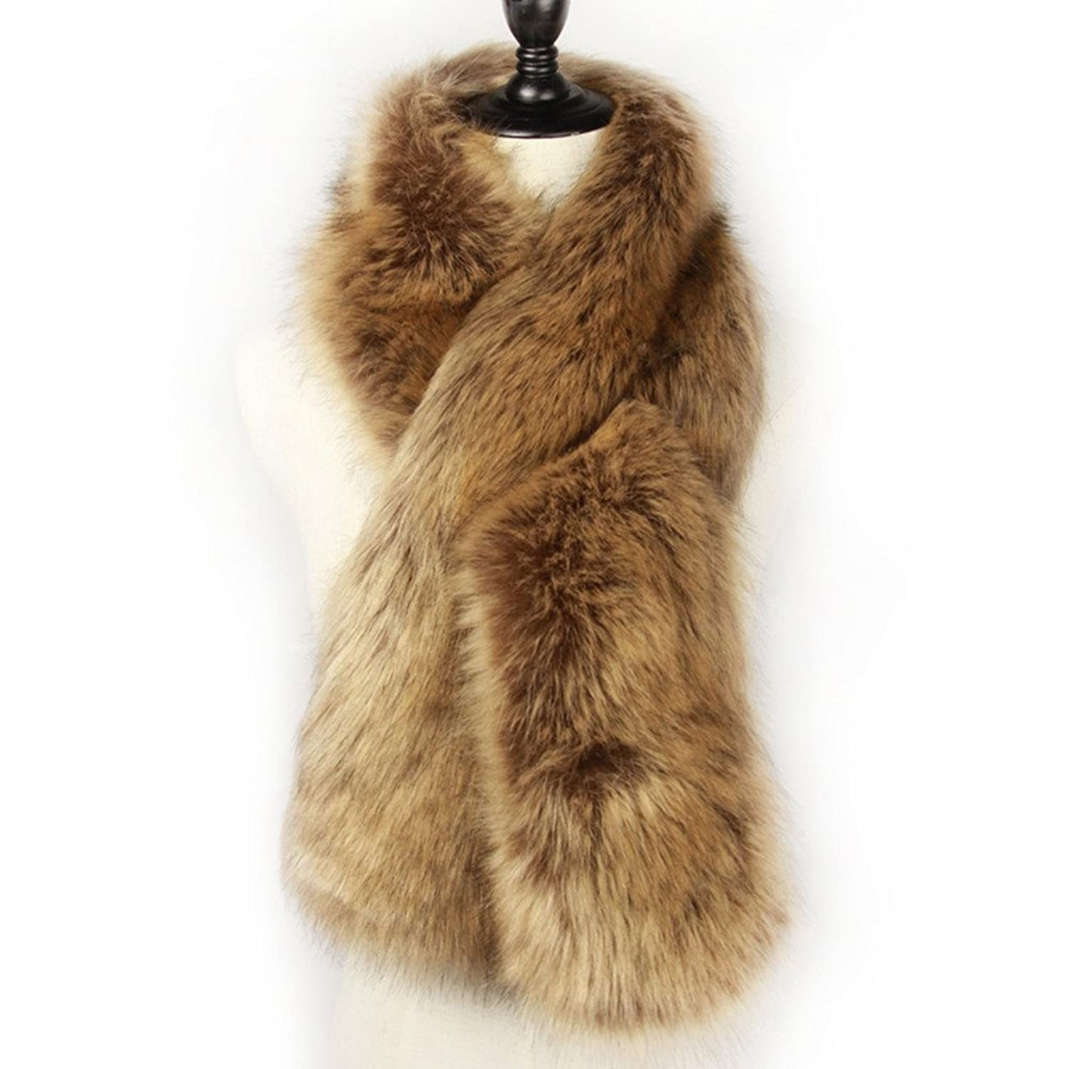 Victorian Clothing, Costumes & 1800s Fashion  Faux Fur Scarf Wrap Collar Shawl Shrug $15.99 AT vintagedancer.com