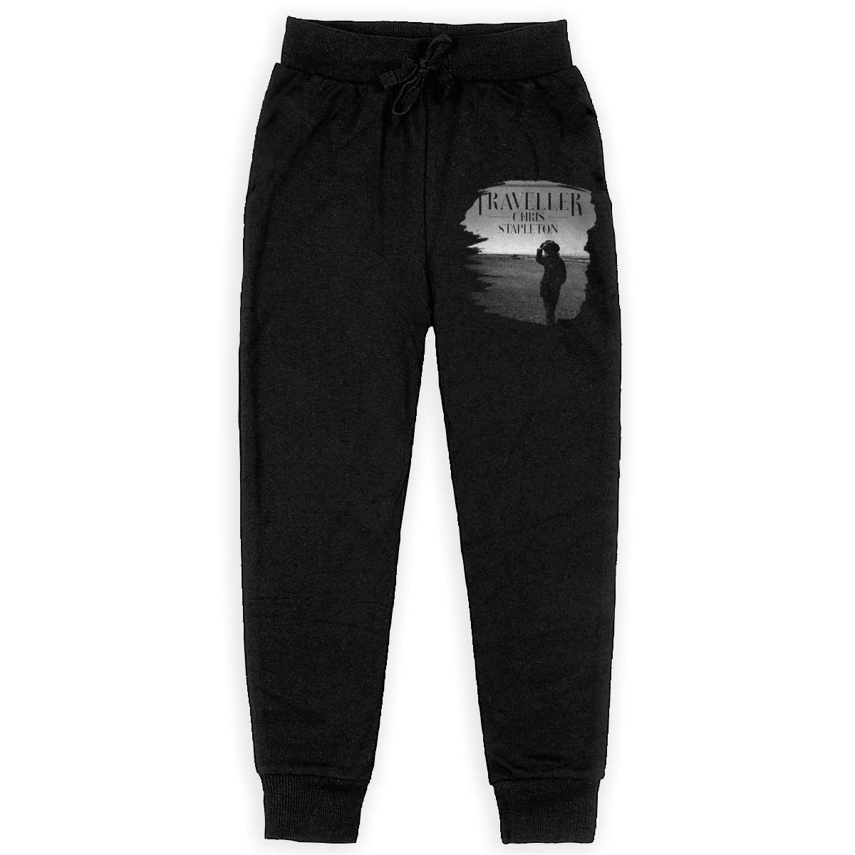 Tangzhikai Unisex Teens Chris Stapleton Traveller Fashionable Music Band Fans Daily Sweatpants for Boys Gift with Pockets