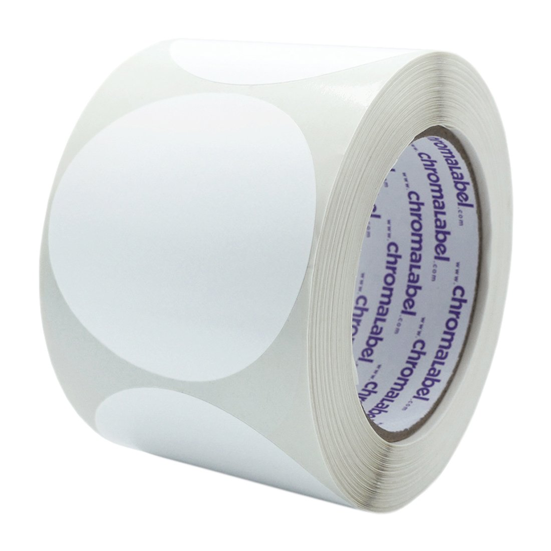 ChromaLabel 3 inch Color-Code Dot Labels | 500/Roll (White)