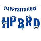 Shark Happy Birthday Banner for Kids Baby Show Theme Birthday Wedding Festival Party