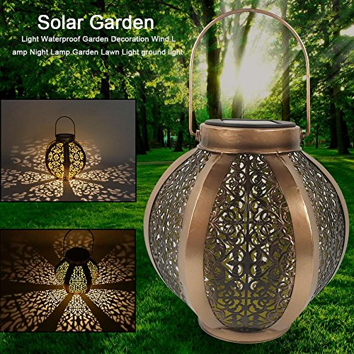 - Hanging Solar Garden Light Waterproof Wind Lamp Lantern Outdoor Solar Powered Lawn Light Rechargeable Battery Ground Lighting for Courtyard, Wedding, Party, Bar, Cafe, Christmas, Table, Tree, Fence