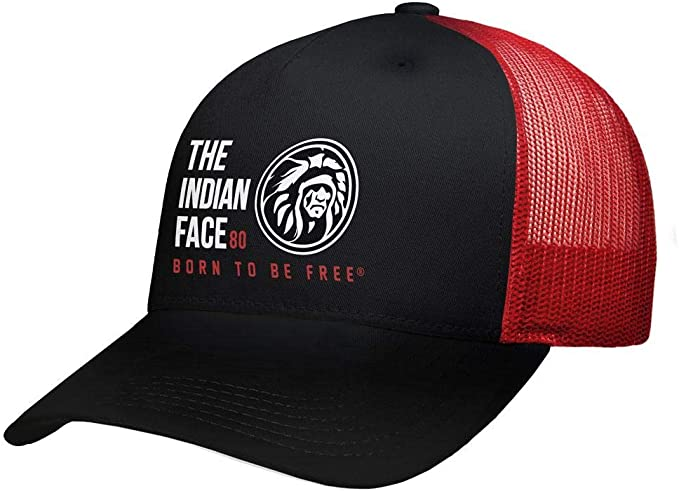 The Indian Face Free Soul Gorra, Adultos Unisex, Roja y Negra ...