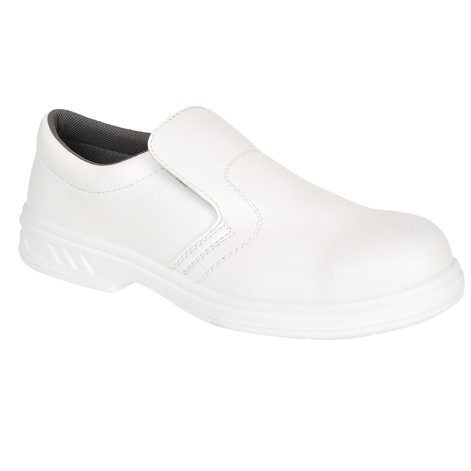 TALLA 36. Portwest FW81 - Slip-On de seguridad S2 Zapato, color Blanco, talla 36