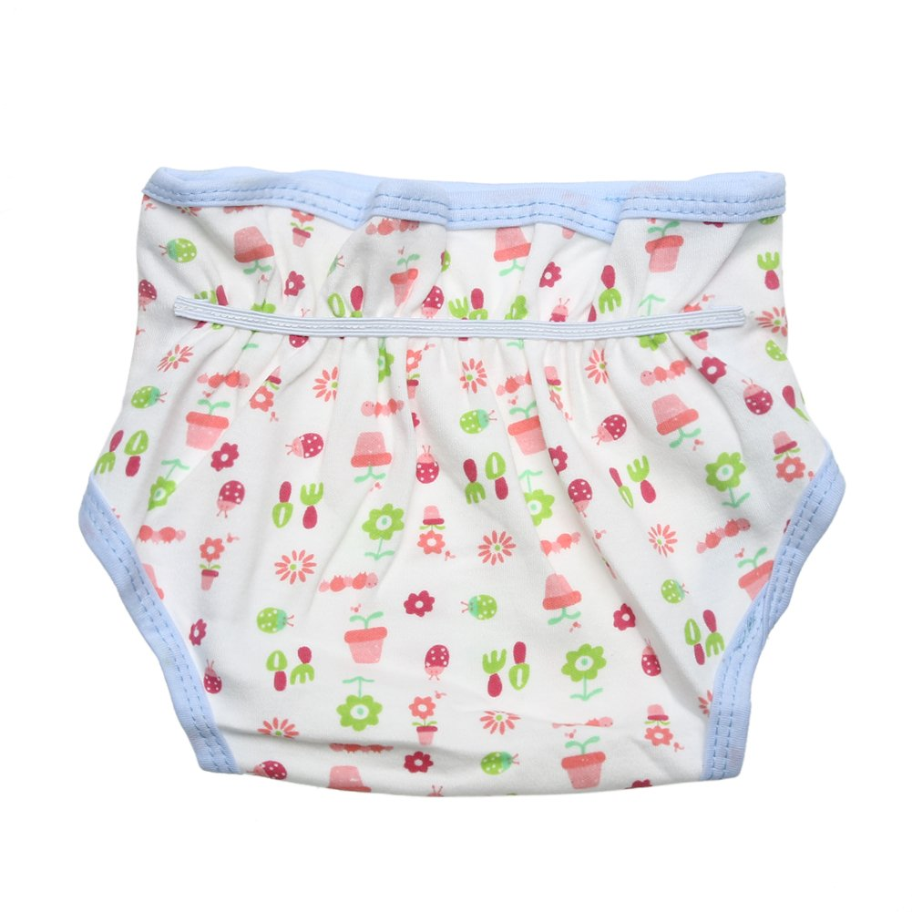 Chinatera Baby Infants Breathable Soft Cotton Diaper Pants Reusable Cartoon Nappy For Baby Ages 0-24 Months