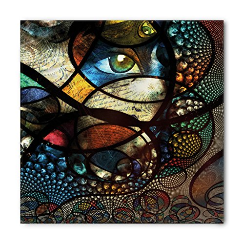 (Lunarable Modern Art Bandana, Colorful Psychedelic, Unisex Head and Neck Tie)