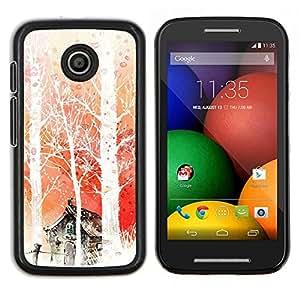 Caucho caso de Shell duro de la cubierta de accesorios de protección BY RAYDREAMMM - Motorola Moto E - Naturaleza Aire Caliente Aventura