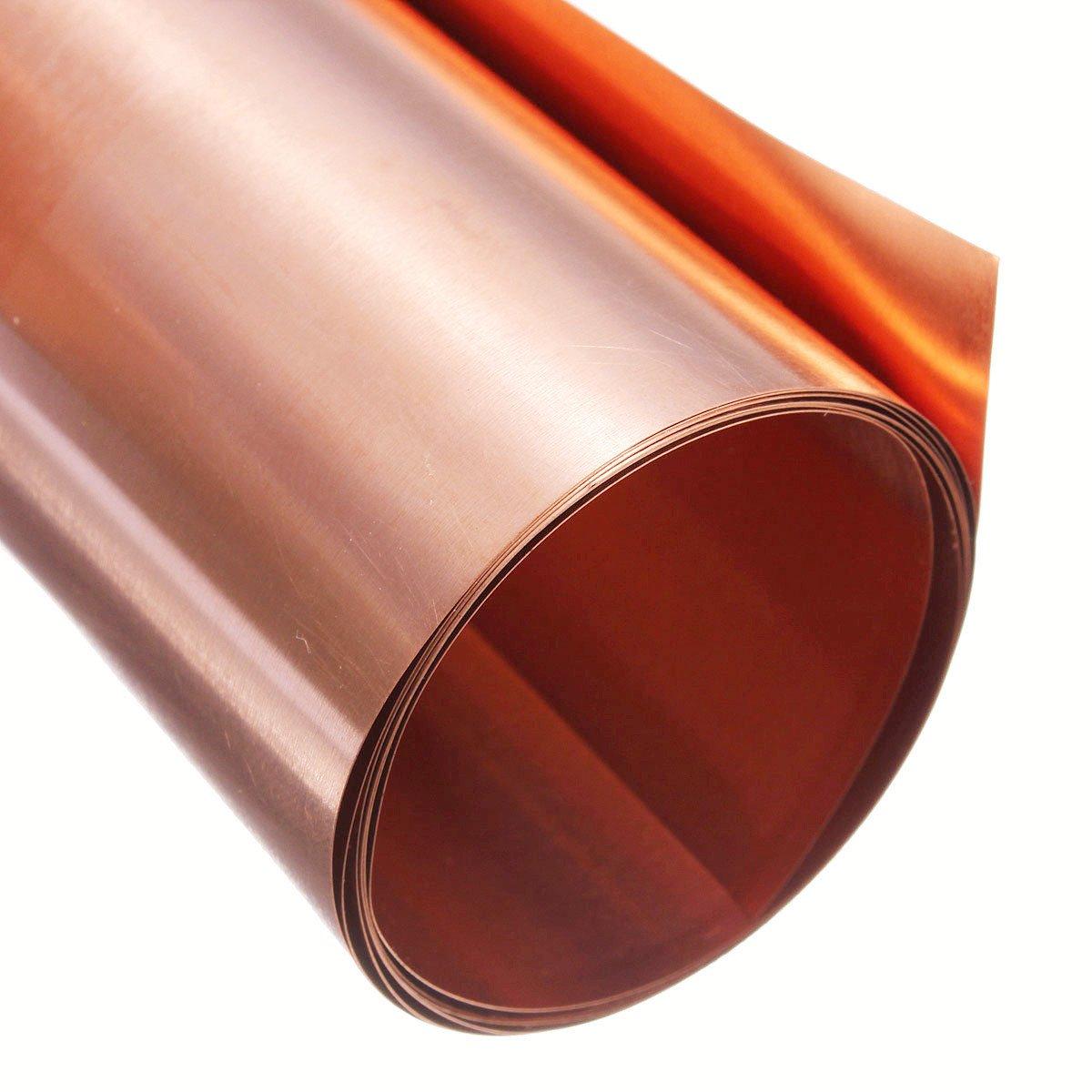 Pure Copper Metal Sheet Foil Plate 0.2 x 100 x 1000 mm Cut Copper Metal Plate
