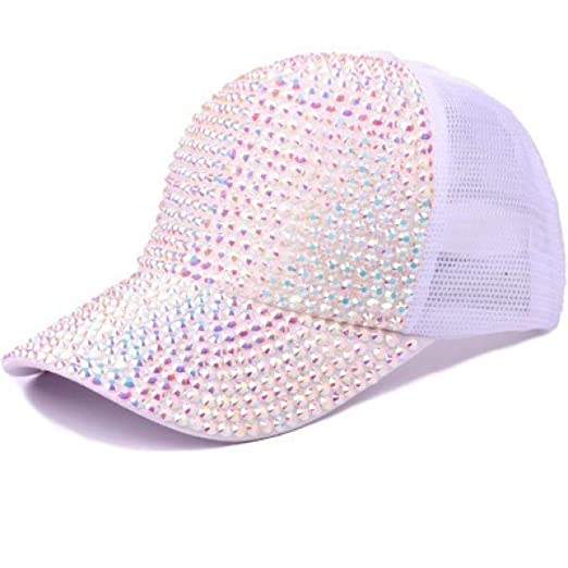 kyprx Sombreros de Sol para Mujer Gorra de béisbol con Lentejuelas ...