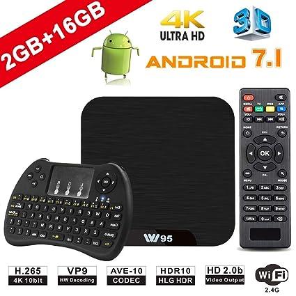 TV Box Android 7.1 - VIDEN W2 Smart TV Box Amlogic S905X Quad Core, ...