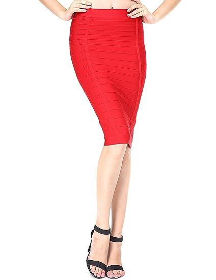 Adyce bandage vestidos vendaje bodycon vestido mini falda roja ...