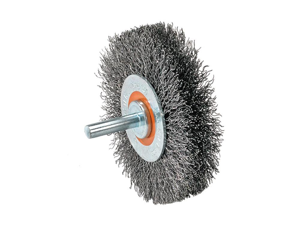 Walter 13C170 Wire Mounted Brush - 1/4 in. Shaft, Die Grinder Brush with Crimped Wires. Wire Wheel Brushes