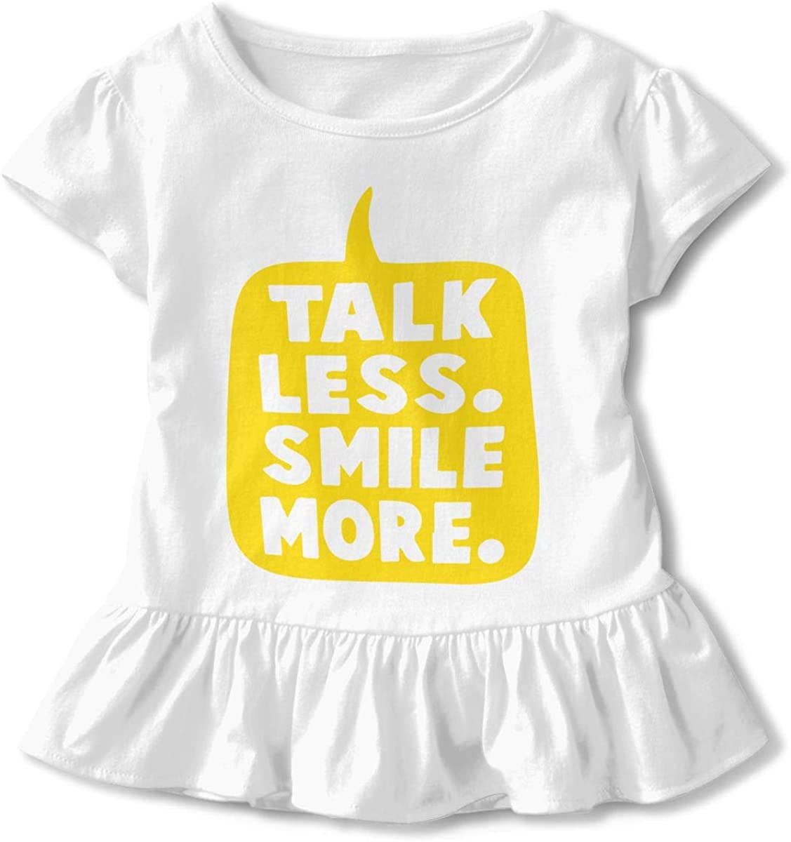Talk Less Smile More Baby Girls Short Sleeve Tee Pullovers