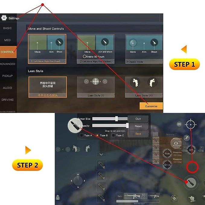 Slipond - Mando de Juegos para Android iOS (1 par), diseño ...