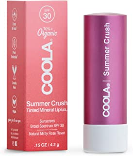 product image for COOLA Organic Mineral Sunscreen Tinted Lip Balm, Lip Care for Daily Protection, Broad Spectrum SPF 30, Reef Safe