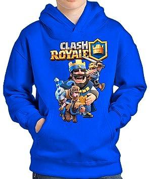 SUDADERA Clash Royale Rey (7-8 AÑOS, Azul)