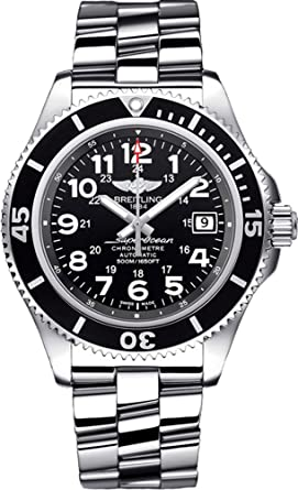 breitling heritage watches large leather mm watch htm automatic mens superocean black