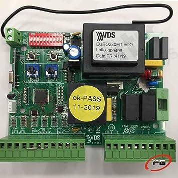 Placa de control VDS EURO 230 M1 ECO + Receptor + Encoder. Cuadro ...