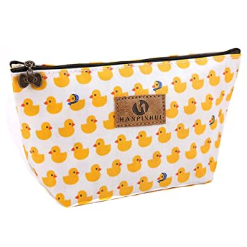 09557f2309ff Lalang Women's Make Up Bag Small Cosmetic Pouch Cute Duck Print Wash Bag  Toiletry Beauty Organiser