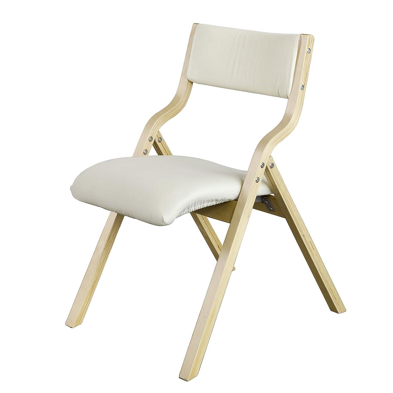 SoBuyR FST40 W Chaise Pliante En Bois Avec Assise Rembourre Pliable Pour