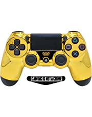 Gold Face PS4 PRO Rapid Fire Custom Modded Controller 40 Mods for All Major Shooter Games BO4 & More (CUH-ZCT2U)