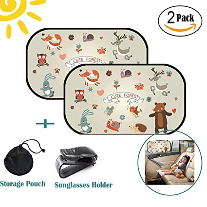 44x36cm con Custodia Protezione dal Sole per Bambini Parasole Autoadesivo per Auto 2 Pezzi Tendine Autoadesive per Finestrini e Lunotto HECKBO/® | Sirena