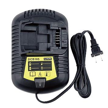 Qbmel - Cargador de batería para Dewalt de iones de litio ...