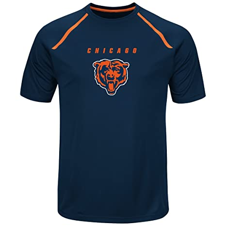 Majestic Athletic Chicago Bears Mens  Fanfare VIII  Short Sleeve Crew Neck  Tee -Medium 3ccbdb077
