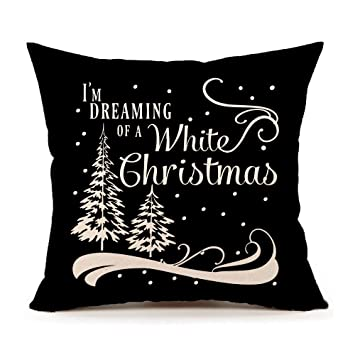 Word Pillow Manual Im Dreaming Of a White Christmas