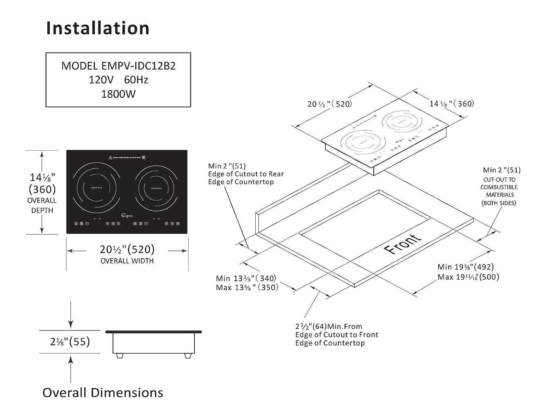 Amazon.com: Empava IDC12B2 - Placa de inducción horizontal ...