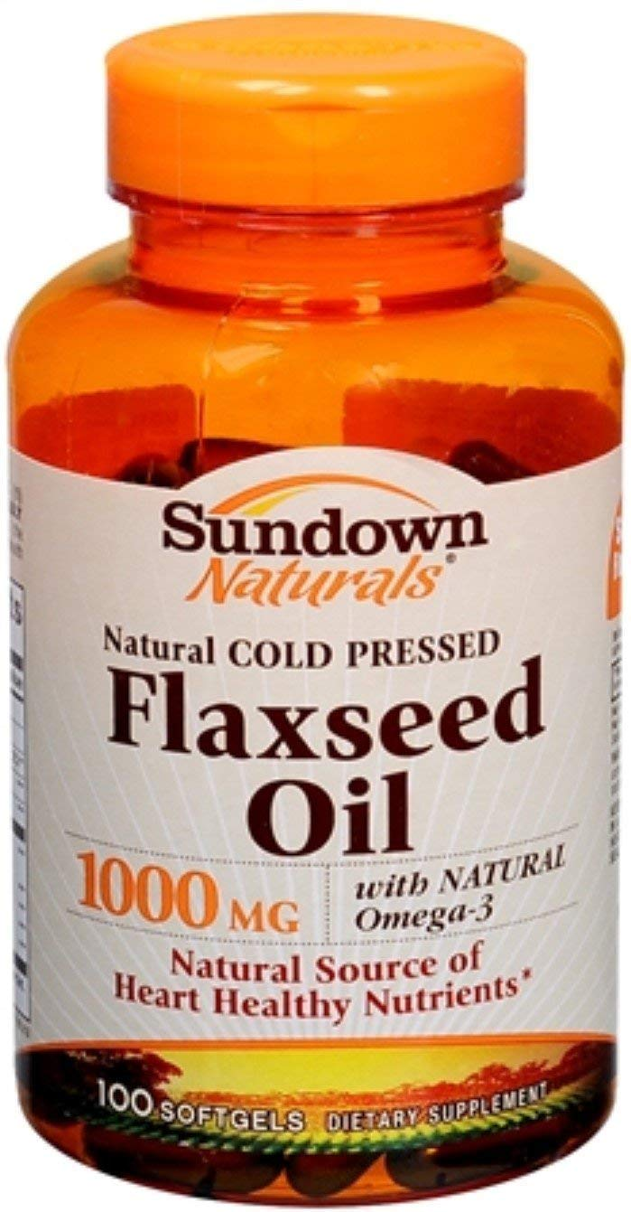 Sundown Naturals Flaxseed Oil 1000 mg Softgels 100 Soft Gels (Pack of 11)
