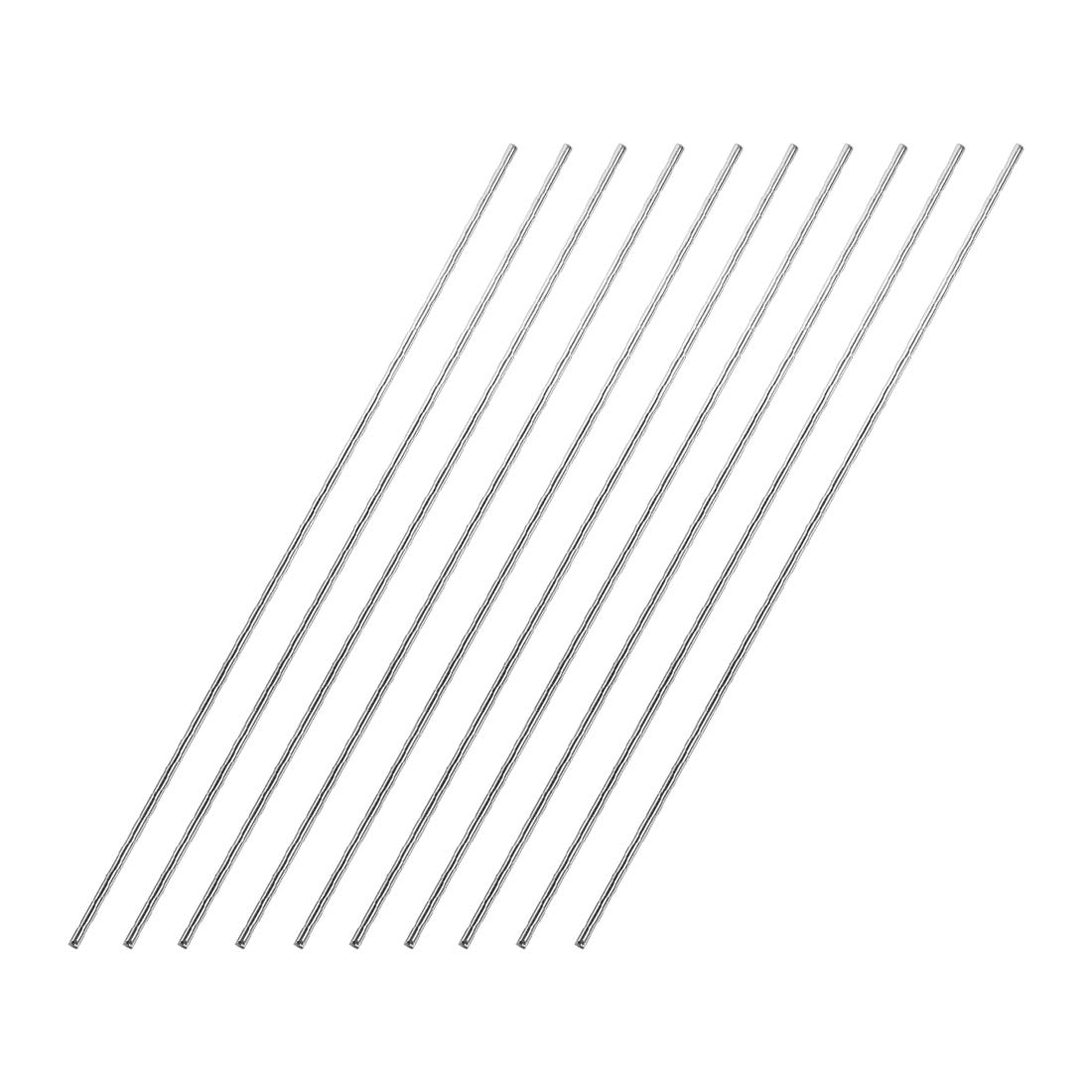 sourcing map 1.5mm x 200mm 304 Stainless Steel Solid Round Rod for DIY Craft 10pcs