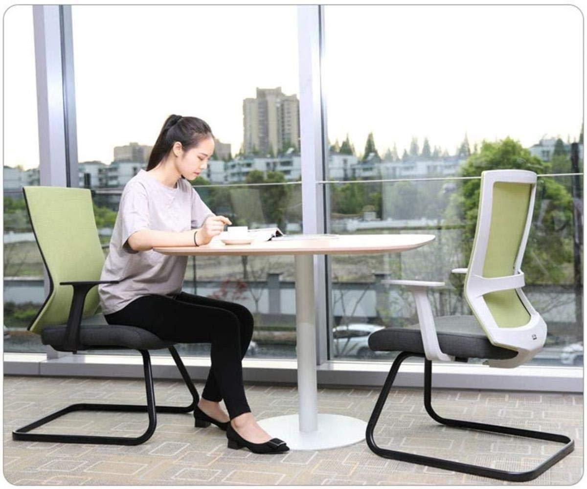 Xiuyun kontorsstol spelstol dator uppgift skrivbordsstol andningsbar nät hem rosett stol bomull kudde stål rör konsol lager vikt 120 kg (färg: Grön) gRÖN