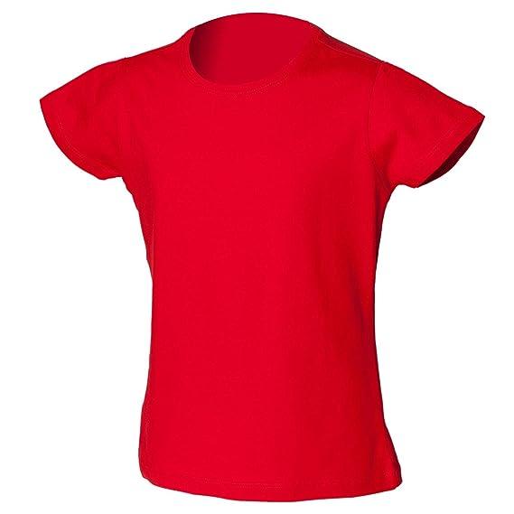 New SKINNI MINNI Childrens Girls Fitted Stretch T Shirt: Amazon.co.uk:  Clothing