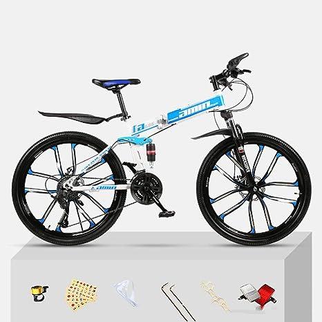 TBAN Bicicleta Plegable De Velocidad De Montaña, Bicicleta para ...