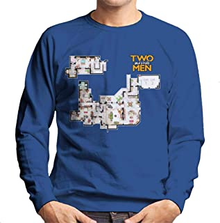 Cloud City 7 Two and A Half Men Floor Plan Men's Sweatshirt