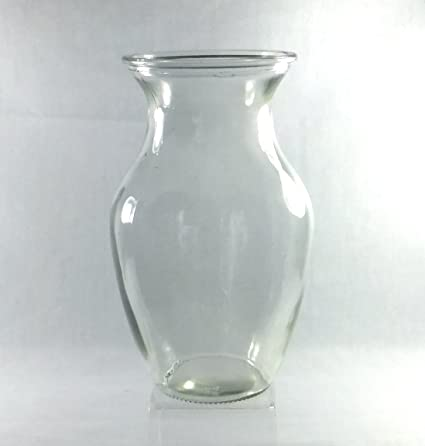 Amazon 8 Inch Curved Ginger Hourglass Flower Vase Clear Glass