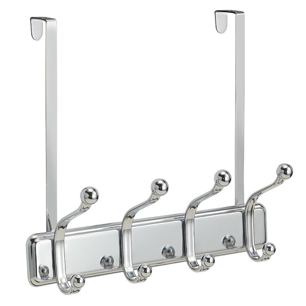 InterDesign York Over Door 4-Hook Rack, Chrome 53970