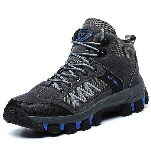 Hombres Turismo Botas de Trekking Zapatos de Caza de Trekking para Hombres Zapatillas de montaña de montaña Antideslizantes al Aire Libre: Amazon.es: ...