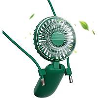 BENKS Mini-ventilator halsketting ventilator handventilator personal ventilator opvouwbaar desktop USB ventilator stille…