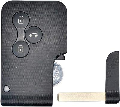 Maso Schlüsselkartenhülle Mit 3 Tasten Smart Fernbedienung Schlüsselanhänger Für Renault Mégane Scénic Mk2 Auto