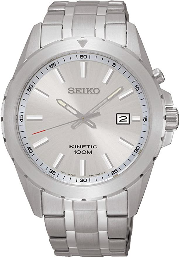 [セイコー]SEIKO 腕時計 KINETIC SILVER DIAL キネティック シルバー ダイアル SKA693P1 メンズ [逆輸入]