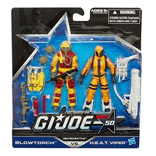 G.I. Joe 50th Anniversary Exclusive Action Figure 2-Pack Heated Battle [Blowtorch vs. H.E.A.T. ()