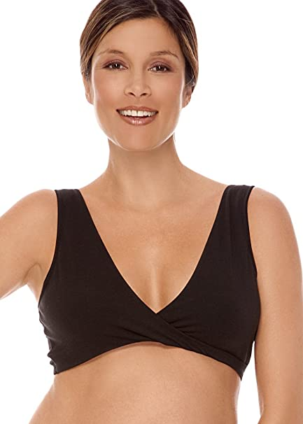 bc1cc7e926204 Lamaze Intimates Women s Maternity Overnight Nursing Wide Band Shoulder  Straps Bra Black Medium