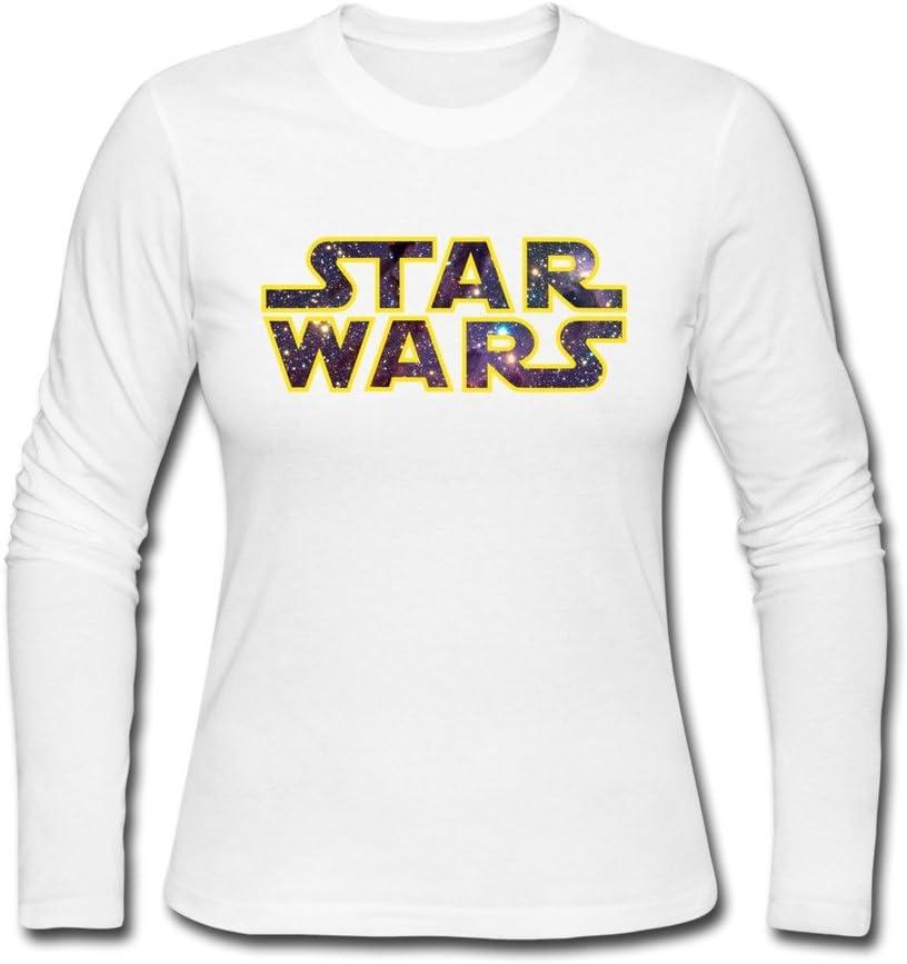 AOPO mujeres de manga larga para Star Wars Logo Tee camisas