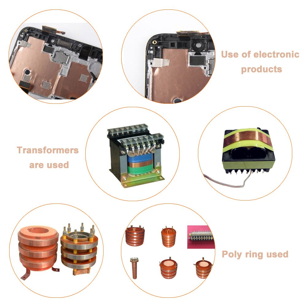 Cinta de Cobre Adhesiva, Kbnian Cinta de Cobre(30mm * 25m), Circuitos de Papel, Cinta de Cobre Adhesiva Conductiva, para Reparar la Máquina, Soldadura, ...