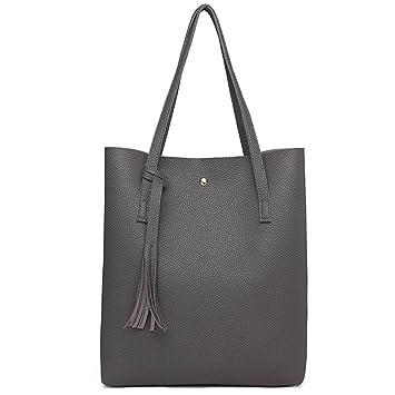 3f061ab6011c Amazon.com: Women Shoulder Bags Soft Leather Handbag Luxury Tassel ...