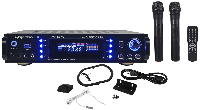 Rockville 1000w 4 Chan Pro/Karaoke Amplifier/Mixer
