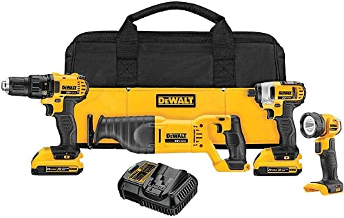 Dewalt DCK420D2R 20V MAX Cordless Lithium-Ion 4-Tool Combo Kit Renewed