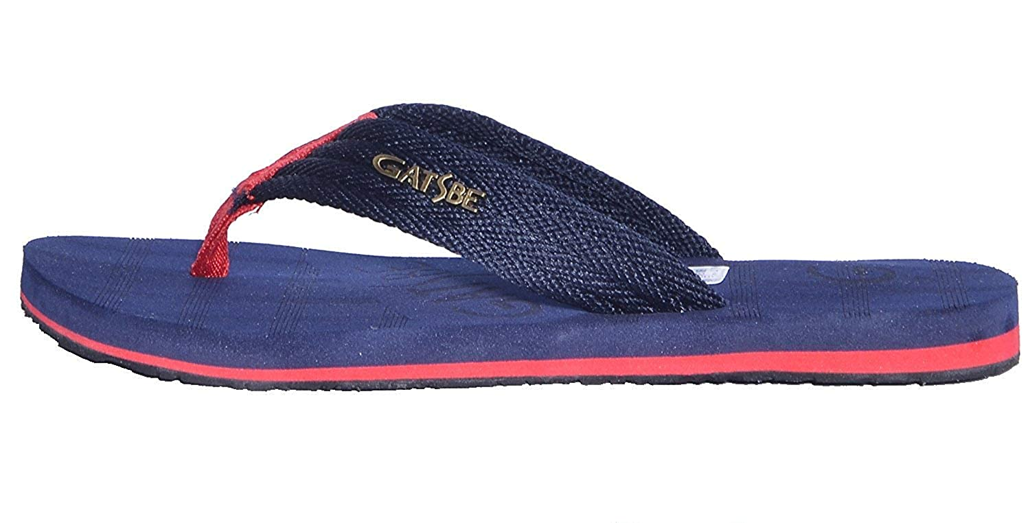 6aa096e3a8a9 GATSBE Men Navy Blue Nylon Walking Slippers-7  Buy Online at Low Prices in  India - Amazon.in